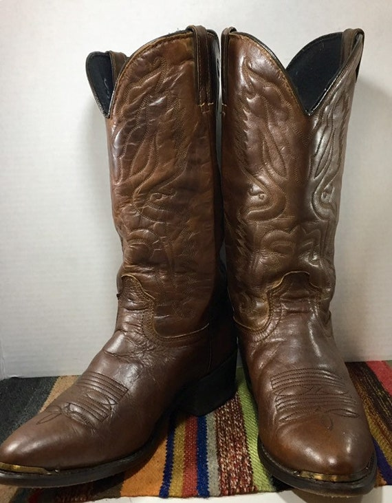 Brown Leather Cowboy Boots from Durango men's size 8 1/2 D or women's size 10