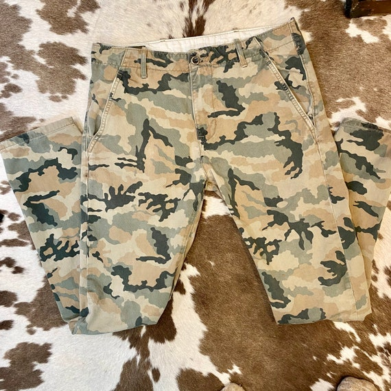 Retro Levi Strauss Camouflage straight Leg Pants size Waist 30 Length 32