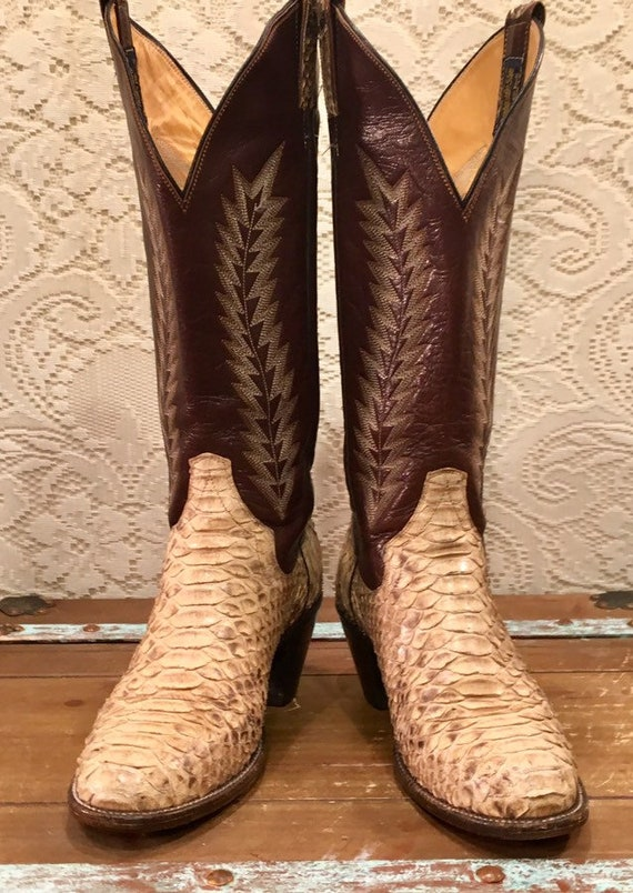 Gorgeous Snakeskin Panhandle Slim Tall Cowgirl Boo