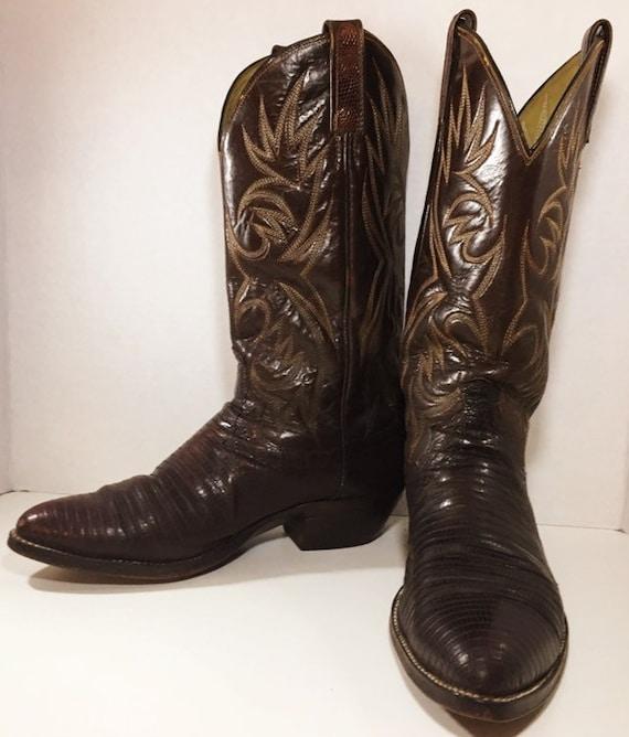 Brown Lizard Skin Dan Post  Cowboy Boots soze 8 1/2 D or women's size 10
