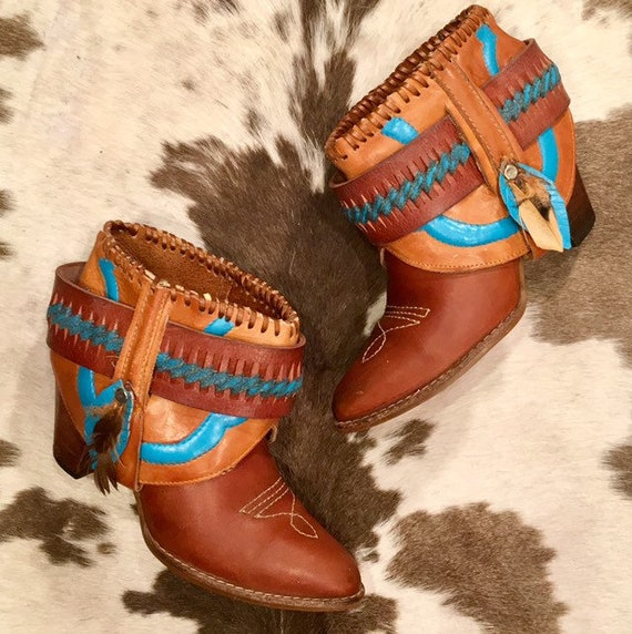 Handcrafted Vintage Miss Capezio Cowgirl Booties size 7 1/2
