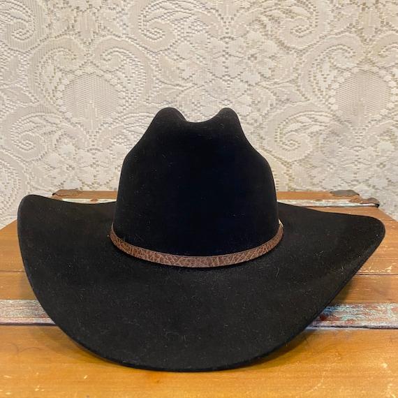 Black Fur Felt 3X Stetson Stallion Cowboy or Cowgirl Hat size 7 1/8 or 57cm