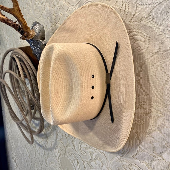 NOS Larry Mahan Palm Straw Cowboy Hat size 7 1/2