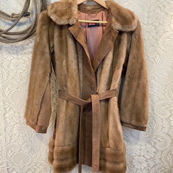 Vintage Faux Mink Fur Coat Aldolph Schumann for Lilli Ann size S-M