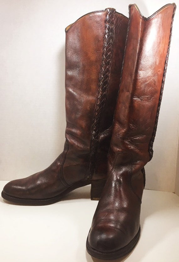Tall Miss Capezio Campus Equiatrian Cowgirl Boots woman's size 9