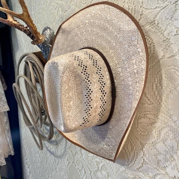 NOS Tony Lama Palm Straw 8X Cowboy or Cowgirl Hat size 7 1/2