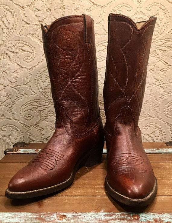 Brown Texas Cowboy Boots size 10 1/2D