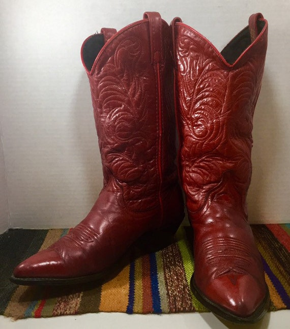 Red Acme Cowgirl Boots size 7M