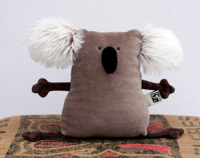 RtS Baby gift, birthday gift for kids, Koala Ready-to-Ship Plushie, Little Pocket Koala Stuffie Toy, Funny Marsupial Pocket Plush