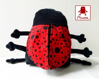 Ladybug Plushie, Little Pocket Ladybird Stuffie Toy, Funny Insect Pocket Plush, Muma Valentine