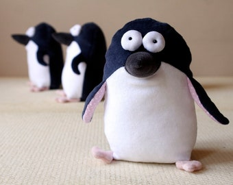 Pocket Penguin Muma, St Kilda Penguin Plush, Funny Pop Eye Penguin Toy, Soft Little Penguin Stuffed Toy, Australian Penguin
