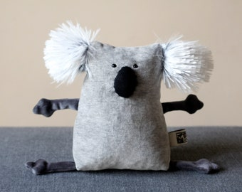 Muma Koala Plushie, Little Pocket Koala Stuffie Toy, Funny Marsupial Pocket Plush
