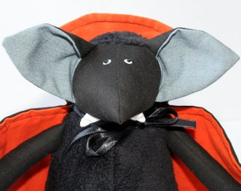 Vampire Bat for Halloween stuffed toy, plush animal, kids halloween toy, colorful winged bat plushie