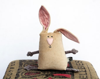 Muma Easter Bunny Plushie Ready to Ship, Little Pocket Rabbit Stuffie Toy, Funny Bunny Pocket Plush