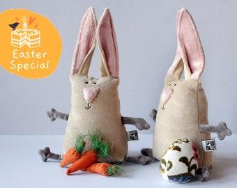Muma Easter Bunny Plushie, Little Pocket Rabbit Stuffie Toy, Funny Bunny Pocket Plush