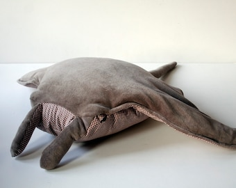 Pollutoy, Martha the Manta Ray, Educational Toy, Plush Fish Toy, Stuffed Manta