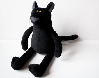 Black Baby Panther, Cuddly Plush Panther for Children, Black Panther Plushie