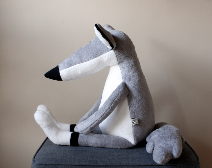 Big Bad Wolf, Double Size Grey Wolf Plushie