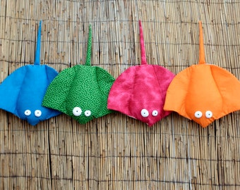 Stingray Stuffed Toy, Soft Stingray Plush, Manta Ray Plushie, Colorful Ocean Creature