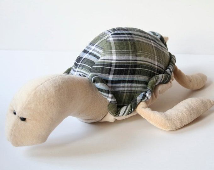 Plush Turtle Pollutoy, Turf the Turtle, Stuffed Sea Turtle Soft Toy, Educational Plush toy