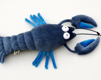 RtS Blue Yabbie Australian Freswater Crustacean Plush Toy, Blue Soft Lobster, Crab Plushie