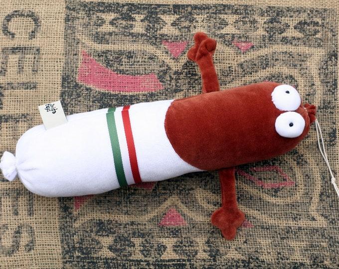 Rts Hungarian No Mustache Salami Plush, Soft Funny Sausage Toy Ready to Ship, Traditional Hungarian Salami Plushie