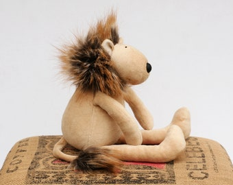 RtS Lion Plush Toy, Stuffed Fluffy Leo, Soft Wild Cat, Funny Savannah Creature Ready to Ship