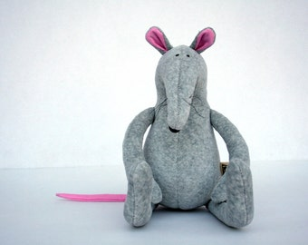 Grey Plush Rat stuffed animal