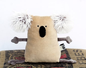 RtS Beige Koala Muma Baby Gift, Birthday Gift for Kids, Koala Ready-to-Ship Plushie, Little Pocket Koala Stuffie Toy