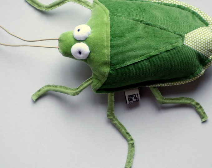 Stink Bug Plushie, Green or Brown Little Plush Insect, Stuffed Stinkbug Toy, Little Pest from Budapest