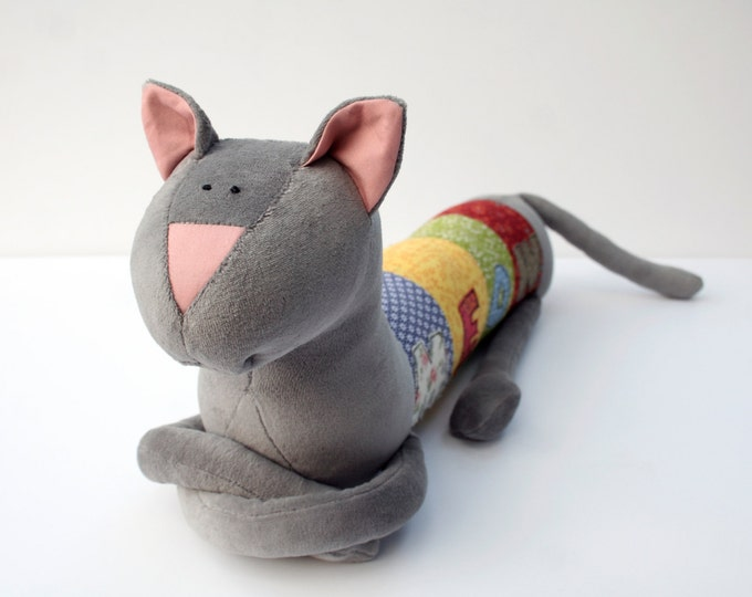 Meow Cat, Personalized Kitty, Long Plush Kitten stuffed animal, plush toy, personalized stuffed animal