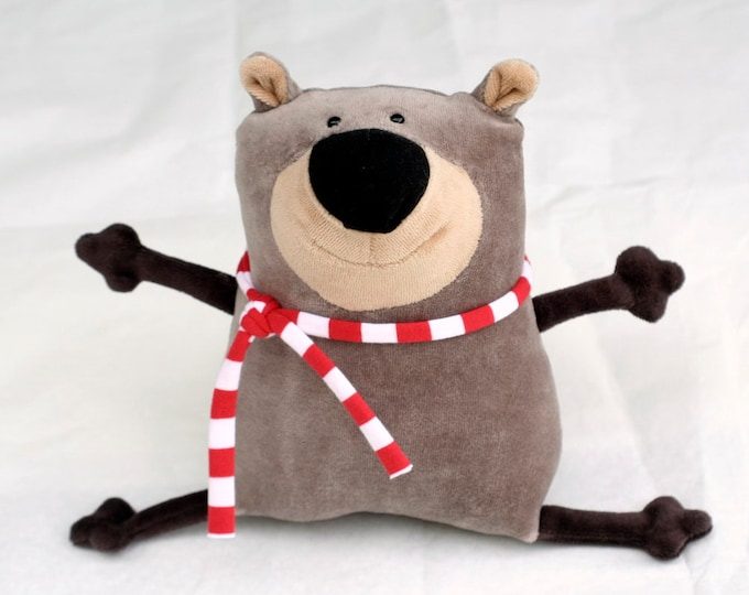 Muma Teddy Bear Plushie, Funny Little Bear Stuffie Toy, Funny Pocket Plush Bear, stuffed animal