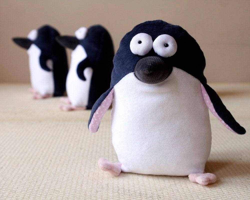Pocket Penguin Muma St Kilda Penguin Plush Funny Pop Eye Penguin Toy Soft Little Penguin Stuffed Toy Australian Penguin