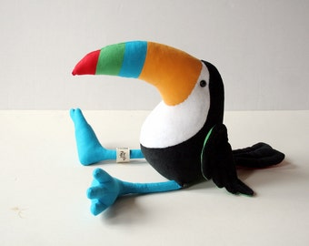 Colorful Toucan Plush Birdie, Cuddly Toucan Plush Toy
