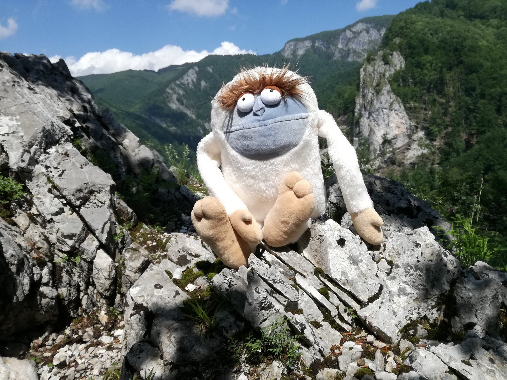 Yeti, Fabulous Bigfoot Plush Monster, Soft Funny Mountain
