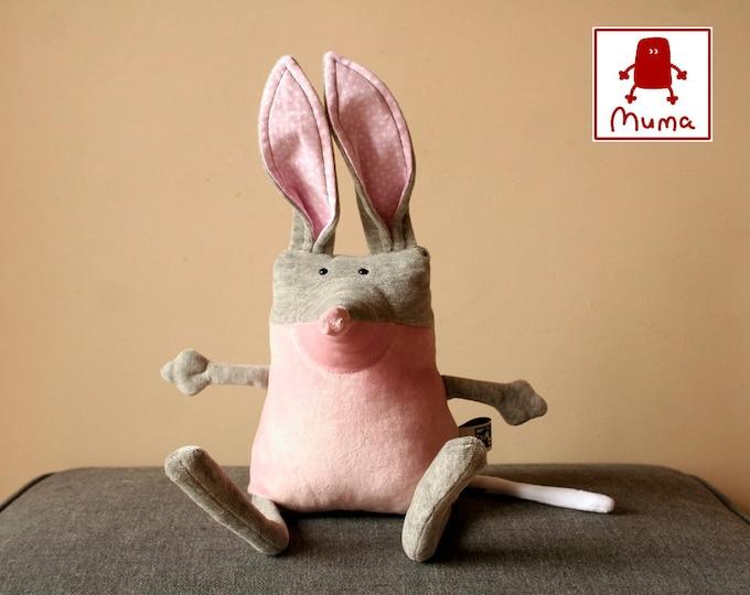 Muma Bilby Plushie, Little Pocket Marsupial Stuffie Toy, Funny Australian Easter Bunny Pocket Plush