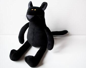 Black Baby Panther, Cuddly Plush Panther for Children, Black Panther Plushie