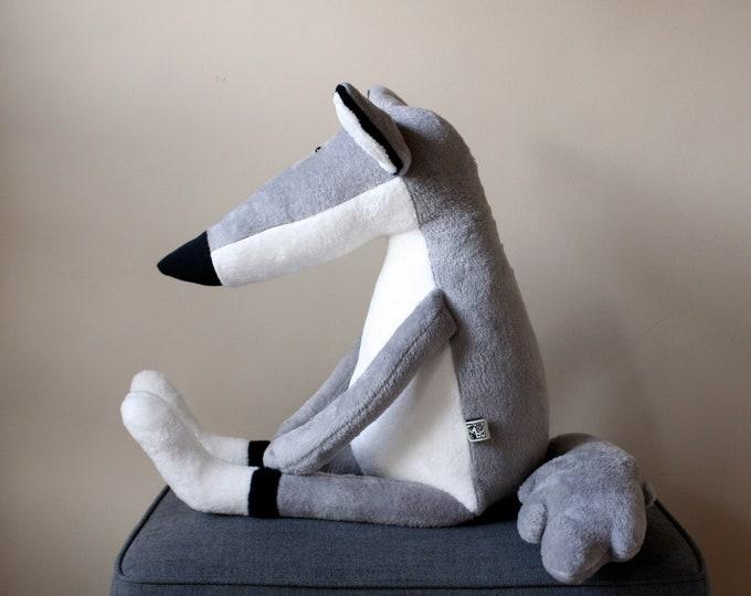 Big Bad Wolf, Double Size Grey Wolf Plushie