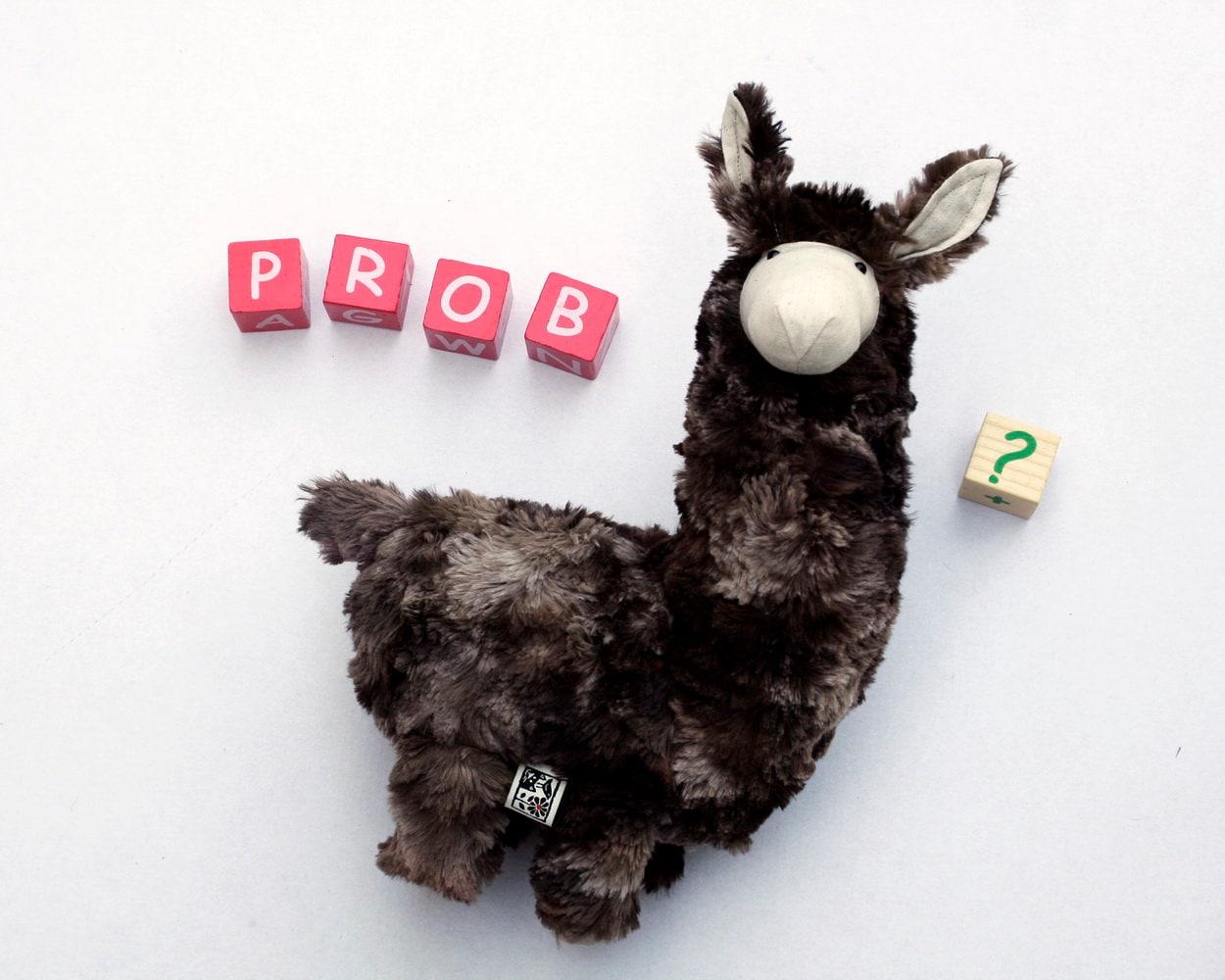Stuffed Llama, Llama Plush, Probllama? Cute Soft Baby Toy