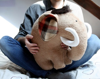 Mighty Mammoth cuddly toy, nursery decor huge huggable elephant