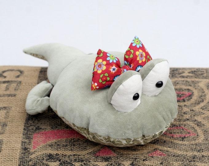 RtS Moss Green Tadpole Girlie stuffed plush toy, Ready to Ship Tadpole Stuffie