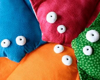 Stingray Stuffed Toy, Soft Stingray Plush, Manta Ray Plushie, Colorful Ocean Creature