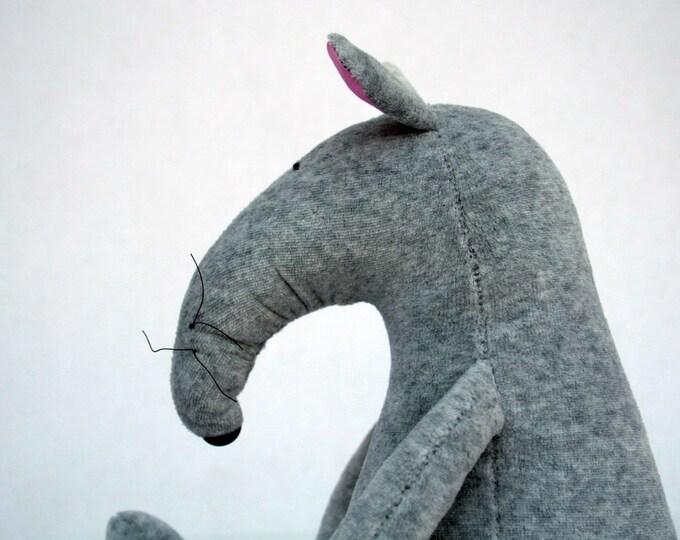 Grey Plush Rat stuffed animal