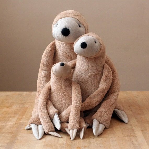 Big Sloth Stuffed Animal Toy For Children Etsy