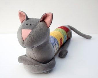 Personalized Kitty Cat, Free Shipping Worldwide, Long Plush Kitten stuffed animal, plush toy, personalized stuffed animal