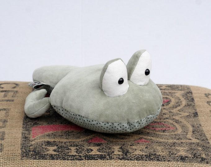 RtS Moss Green Tadpole Boy stuffed plush toy, Ready to Ship Tadpole Stuffie