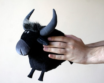 Buffalo Plush, Funny Soft Bull Toy, Cute Cow Plushie, Symbol of 2021, Chinese New Year 2021