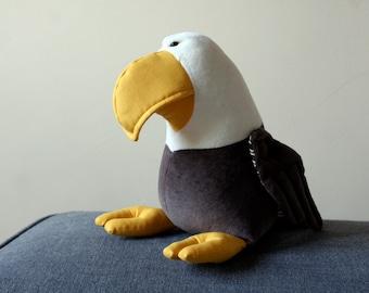 American Bald Eagle, Cuddly Eagle Soft Toy, Plush Eagle Bird, Bird of Prey Plush Toy