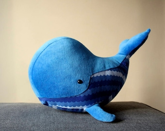 Big Blue Whale, Funny Marine Mammal, Baby Whale, Sleeping fellow for children