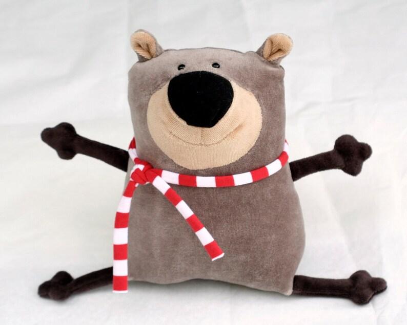 Muma Teddy Bear Plushie Funny Little Bear Stuffie Toy Funny image 0